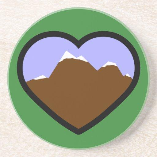 Corazón elemental de la tierra posavasos cerveza