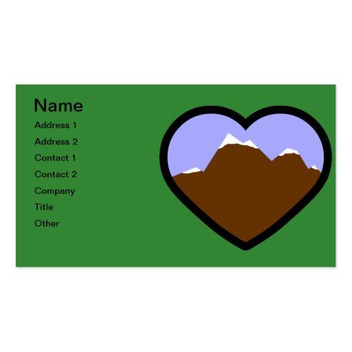 Corazón elemental de la tierra tarjeta de visita