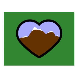 Corazón elemental de la tierra postales
