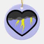 Corazón elemental del aire ornamentos para reyes magos