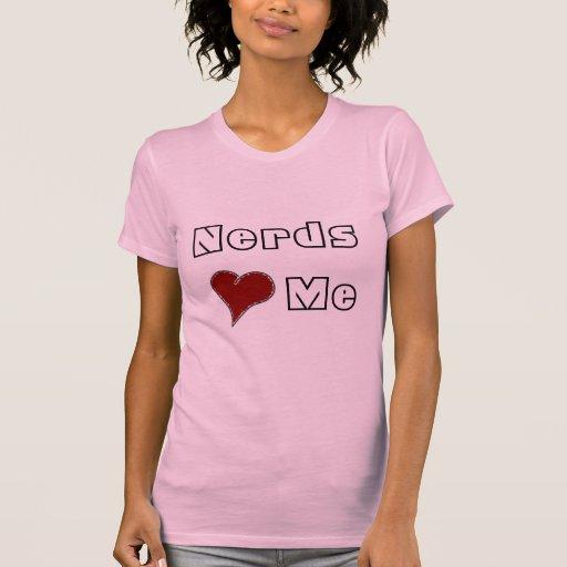 corazón, empollones, yo camisetas