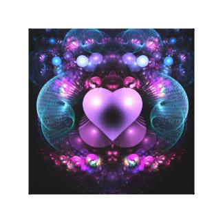 Corazón en amor impresion en lona