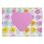 Corazón en blanco grande ADAPTABLE para la tarjeta