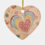 Corazón en colores pastel bonito ornamento de navidad