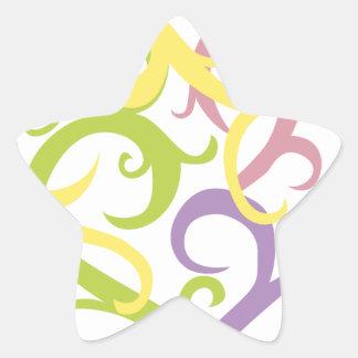 corazón en colores pastel del tatuaje de la vid calcomanía forma de estrella personalizadas
