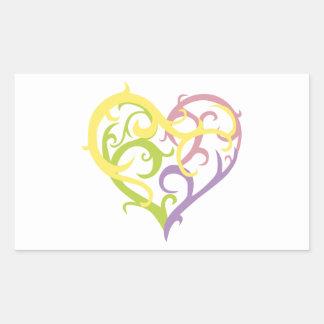 corazón en colores pastel del tatuaje de la vid rectangular altavoz
