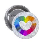 Corazón en colores pastel pins