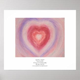 Corazón en colores pastel póster