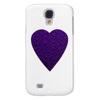 Corazón en colores púrpuras. Diseño del corazón de Funda Para Galaxy S4