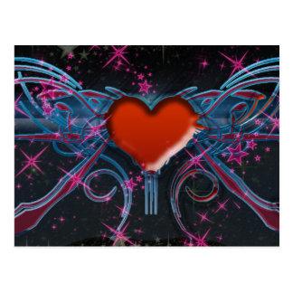 corazón en el ejemplo de la galaxia postales