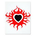 Corazón en el fuego invitación personalizada