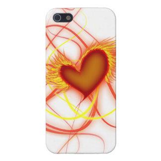 Corazón en el fuego iPhone 5 fundas