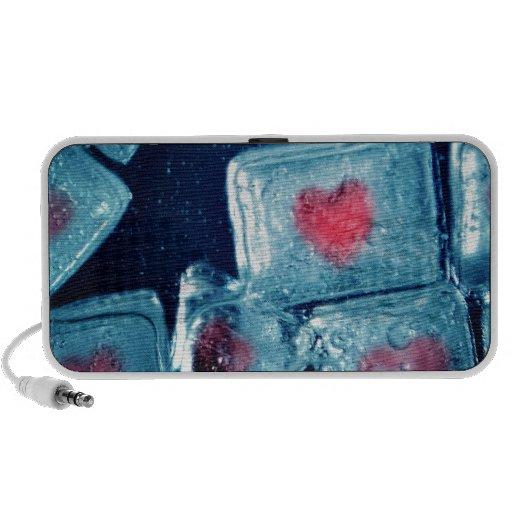Corazón en el hielo altavoz de viajar