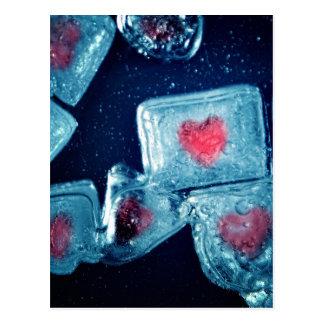 Corazón en el hielo tarjetas postales