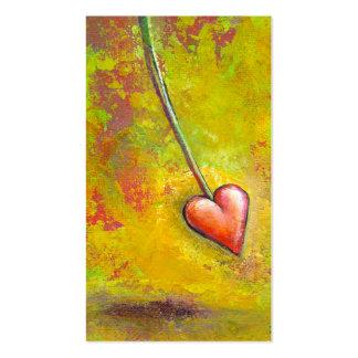 Corazón en el movimiento - arte contemporáneo de l tarjeta de visita