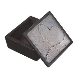 Corazón en la caja de regalo de la arena caja de joyas de calidad