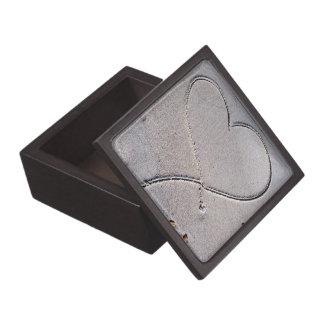 Corazón en la caja de regalo de la arena caja de recuerdo de calidad