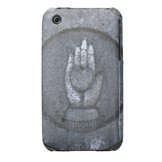 Corazón en la mano de piedra Case-Mate iPhone 3 cobertura