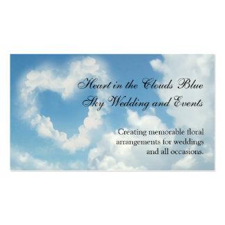 Corazón en las nubes, amor romántico del cielo plantilla de tarjeta de negocio