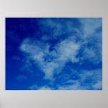 Corazón en las nubes impresiones