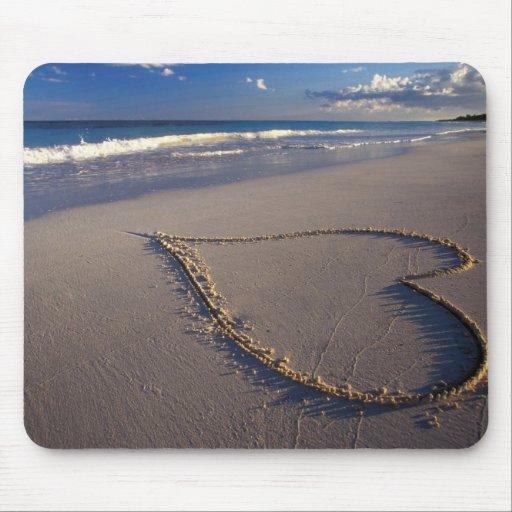 corazón en mousepad de la arena