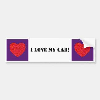 Corazón en pegatina para el parachoques maravillos pegatina para auto