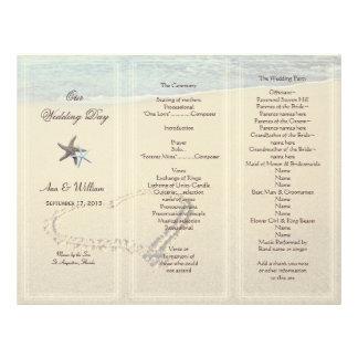 Corazón en plantilla del programa del boda de la a membrete a diseño