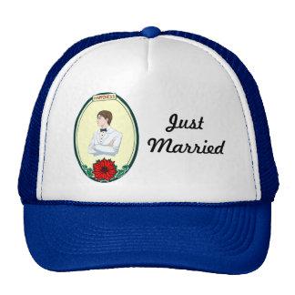 Corazón en su mano gorras de camionero