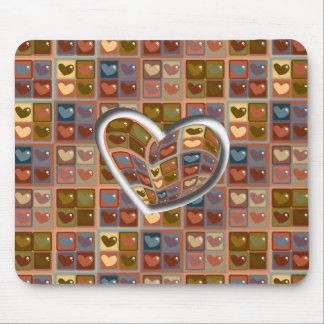 Corazón en una caja Mousepad Tapetes De Raton