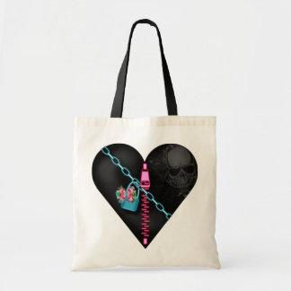 Corazón encadenado - tote del presupuesto bolsas