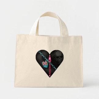 Corazón encadenado - tote minúsculo bolsas