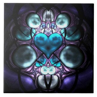 Corazón encantado azulejo cuadrado grande