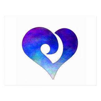 Corazón enganchado estilizado moderno 18 postales