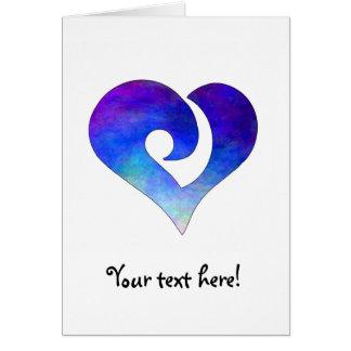 Corazón enganchado estilizado moderno 18 tarjeta de felicitación