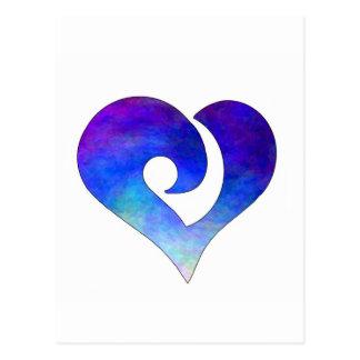 Corazón enganchado estilizado moderno 18 tarjeta postal