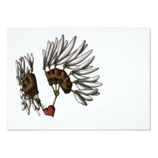 Corazón enjaulado invitación 12,7 x 17,8 cm