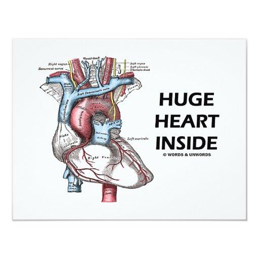 Corazón enorme dentro invitación 10,8 x 13,9 cm