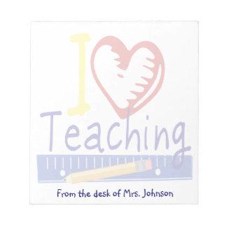 (Corazón) enseñanza I Libretas Para Notas