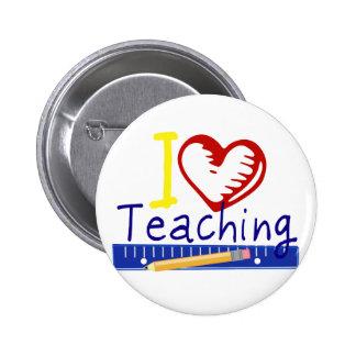 (Corazón) enseñanza I Pin Redondo De 2 Pulgadas