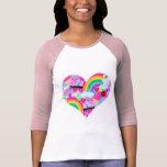 Corazón épico de la explosión de los años ochenta camiseta