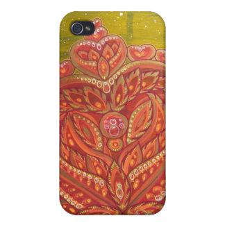 Corazón/espacio iPhone 4/4S Carcasas