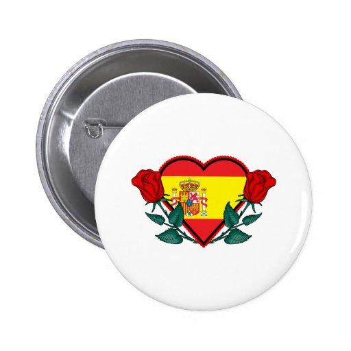Corazón España Pin