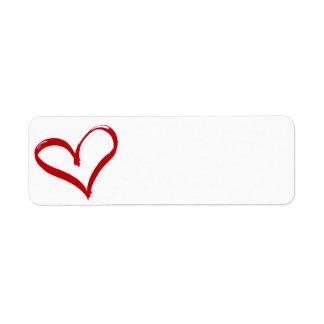 Corazón Etiqueta De Remite