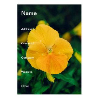 Corazón-facilidad amarilla tarjeta personal