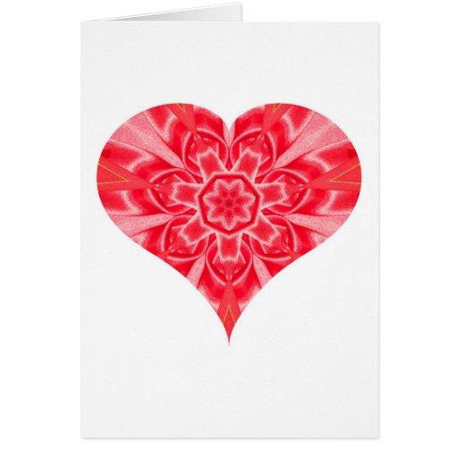 Corazón febrero de 2013 doblado tarjeta de felicitación