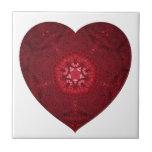 Corazón febrero de 2013 hecho punto azulejos