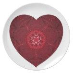 Corazón febrero de 2013 hecho punto platos para fiestas