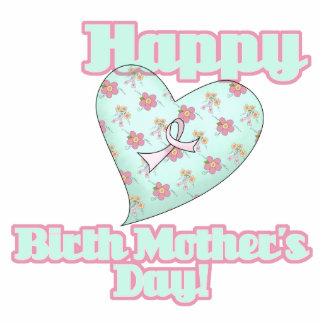 Corazón feliz de la cinta del día de madres de nac esculturas fotograficas