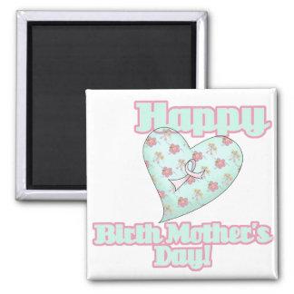 Corazón feliz de la cinta del día de madres de nac imanes
