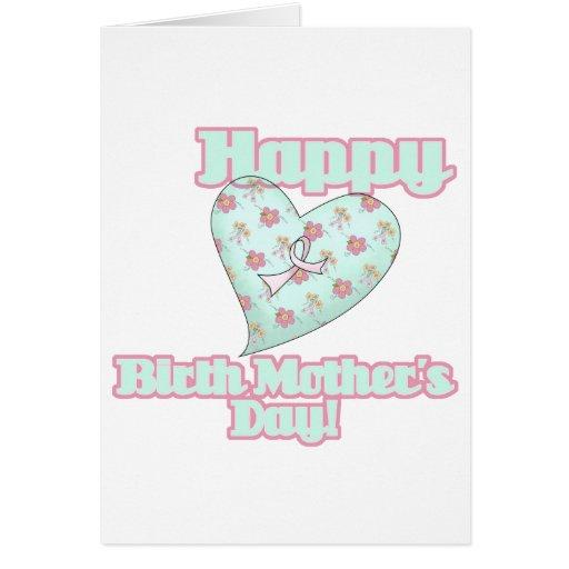 Corazón feliz de la cinta del día de madres de nac tarjeta de felicitación